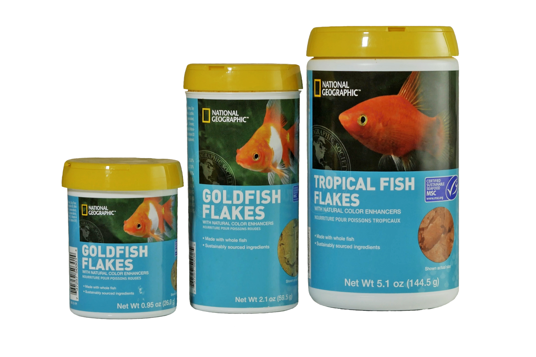 National Geographic Fish Food Label by Great Lakes Label