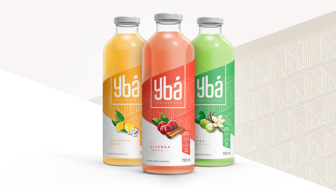 Ybá's spatially satisfying Drink Label Designed By Chá Gelado